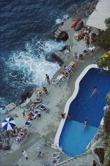 Slim Aarons  Pool on Amalfi Coast: Hotel St. Caterina, Amalfi, Italy, 1984