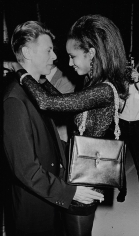 """Ron Galella, David Bowie and Iman at """"7th On Sale"""", a gala fundraising benefit for AIDS at the 69th Regiment Armory, New York, 1990"""