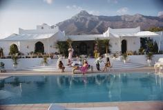 Slim Aarons, El Venero, 1967: the Moorish villa of Hector and Chico de Ayala in Marbella, Spain