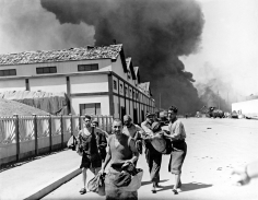 Phil Stern, Civilians During the German Bombing of Algiers Harbor, December 1942