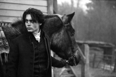 Mary Ellen Mark, Johnny Depp on location, Sleepy Hollow, England, 1999