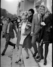 Ron Galella, Elizabeth Taylor, Marie-Helene, and Guy de Rothschild, Prix de l'Arc de Triomphe, Paris, 1968