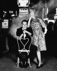 William Helburn, Paul Newman and Joanne Woodward, Times Square, Town & Country, 1955.
