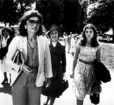 Ron Galella, Jackie Onassis, Janet Auchincloss, and Caroline Kennedy, Harvard University, 1980