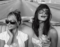 Michael Dweck  Giselle Karina Bacallao Moreno and Rachel Valdes going for a spin on the Malecon, Habana, Cuba, 2009