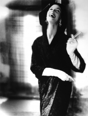 Lillian Bassman, Fur Tailored like Satin - Tailored like Melton: Barbara Mullen in a coat by Ben Kahn, New York, Harper's Bazaar, 1954