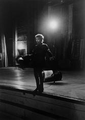 Daniel Kramer, Bob Dylan at Edge of Stage, Town Hall, Philadelphia, 1964
