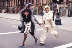 Arthur Elgort, Model and Jon Hendricks in Harlem, NYC, The New Yorker, 2000