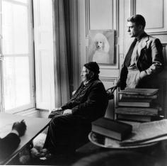 Horst, Carl Erickson Drawing Gertrude Stein And Horst, Paris, 1946