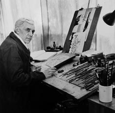 Andre Ostier, Georges Braque, Rue du Douanier, Paris, 1948