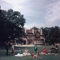 Slim Aarons, Kings of Hollywood: Clark Gable, Van Heflin, Gary Cooper, and James Stewart at Romanoff's in Beverly Hills, 1957