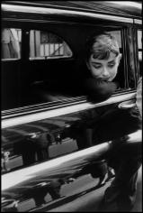 Dennis Stock, Audrey Hepburn on the set of Sabrina, 1954