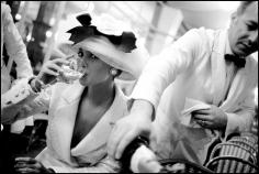 Arthur Elgort, Christy Turlington at La Coupole, Paris, 1988