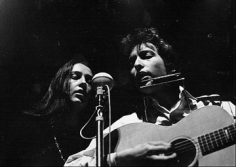 "Daniel Kramer, Bob Dylan and Joan Baez ""Masks"", Philharmonic Hall, Lincoln Center, New York, 1964"