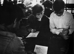 Daniel Kramer, Bob Dylan, Robbie Robertson, and Al Kooper Backstage, Forest Hills Stadium, New York, 1965
