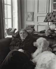 "Horst P. Horst, Gertrude Stein with ""Basket"", Paris, 1946"