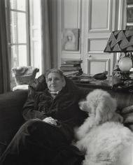 """Horst P. Horst, Gertrude Stein with """"Basket"""", Paris, 1946"""