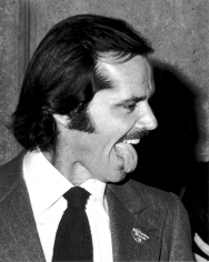 "Ron Galella, Jack Nicholson, ""Heat"" Premiere Party, Jerry's Restaurant, New York, 1972"