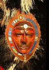 Carol Beckwith and Angela Fisher, Maasai Warror with Red Ochre Face Paint, Kenya