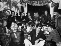Ron Galella Oscar de la Renta with wife Francoise, James Brady, Barbara Streisand and Valentino at a Valentino post-show party, the Pierre Hotel, NYC, September 27, 1970