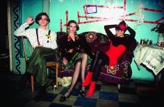 Arthur Elgort, Konstantin, Irina & Christy, Leningrad, 1990