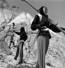 Genevieve Naylor, Models Wearing Anne Cooke Skiwear, Harper's Bazaar, Stowe, Vermont, 1950