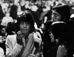 Ron Galella,  Mick Jagger, John Lennon, and May Pang at the AFI Salute to James Cagney at the Century Plaza Hotel, California, 1974