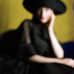 Rodney Smith, Blurred Bernadette in Black Hat, Snedens Landing, New York, 2008