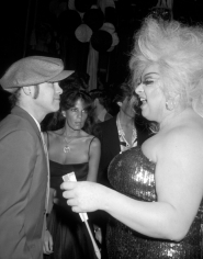 Ron Galella Elton John and Divine attend the premiere party for the film Grease, Studio 54, New York, 1978