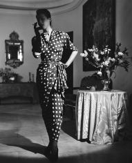 Genevieve Naylor, Model in Balenciaga Dress, Harper's Bazaar, Paris, 1946