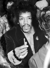 Ron Galella, Jimi Hendrix, Benefit Concert for the Martin Luther King Jr. Fund, Madison Square Garden, 1968