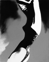 Lillian Bassman The Mold of the Princess- Everything Black and Lacy, model unknown, lingerie by Lily of France, Harper's Bazaar, 1954