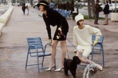 Denis Piel, Tatjana Patitz, Laetitia Firmin-Didot, Cannes, Paris: A New Mood, VOGUE USA, 1986