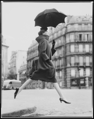 Richard Avedon, Carmen, (Homage to Munkacsi), Coat by Cardin, Paris, 1957