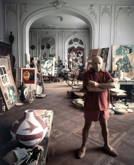 Arnold Newman, Picasso in his Studio, Cannes, 1956