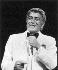 Ron Galella, Tony Bennett in concert at the Universal Amphitheater celebrating his 65th birthday and 40th year in show business, Los Angeles, 1991