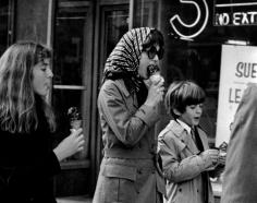 Ron Galella, Jackie Onassis with Caroline Kennedy and John F. Kennedy Jr., New York, 1970