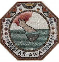 Far Away,2019, Shells, panel and mahogany