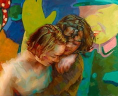 Xenia Hausner, Dancer in the Dark, 2015, oil on Dibond, 49 1/4 x 60 1/4 inches