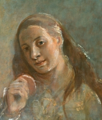 Isabel Bishop, Self-Portrait #2, c. 1927, oil on canvas, 19 x 16 inches