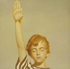 Bo Bartlett, Study for Pledge of Allegiance, 2006, oil on panel, 24 x 24 inches