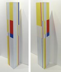 Ilya Bolotowsky, Trylon, 1977, acrylic on wood, 36h x 7w x 7d inches