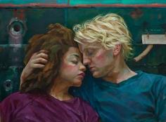 Xenia Hausner, Rubber Soul, 2019, oil on Dibond, 37 7/8 x 51 inches