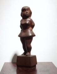 chaim gross, Circus Girl, 1938, wood, 14 h x 4 w x 3 d inches
