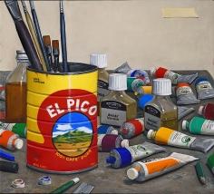 William Beckman, El Pico #3 (SL #6), 2014-15, oil on panel, 18 3/8 x 20 1/2 inches