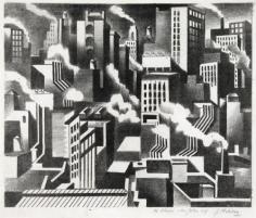 Jan Matulka, Arrangement, New York, c. 1925, printed 2016, lithograph on Kitakata Natural handmade paper, 13 3/8 x 16 1/4 inches, Edition 2/16