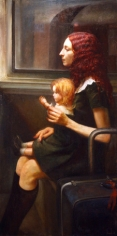 Steven Assael, Untitled (Cassandra with Doll) (SOLD), 2008, oil on canvas, 60 x 30 inches