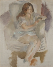 jules pascin, Repos (Repose), 1925, oil on canvas, 28 3/8 x 22 1/4 inches
