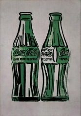 Andy Warhol, Two Coke Bottles, 1962, Silkscreen on canvas