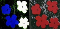 Andy Warhol, Flowers (8 x 8 inches), 1965, Silkscreen on canvas